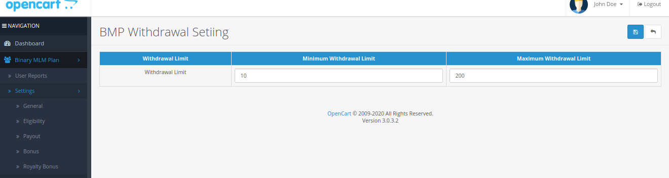 |'Opencart'| |'letscms'| |'opencart Binary mlm plan'| |'withdrawal'| |'money'| |'Settings'| |'configration'| |'withdrawal setting'| |'Dashboard'| |'binary mlm plan'| |'mlm'| |'mlm Plan'| |'Binary'| |'binary mlm extension'| |'costomer list'| |'amounts'| |'Installer'| |'mlmtrees.com'| |'mlm plan'| |'extension'| |'Opencart mlm plan'|