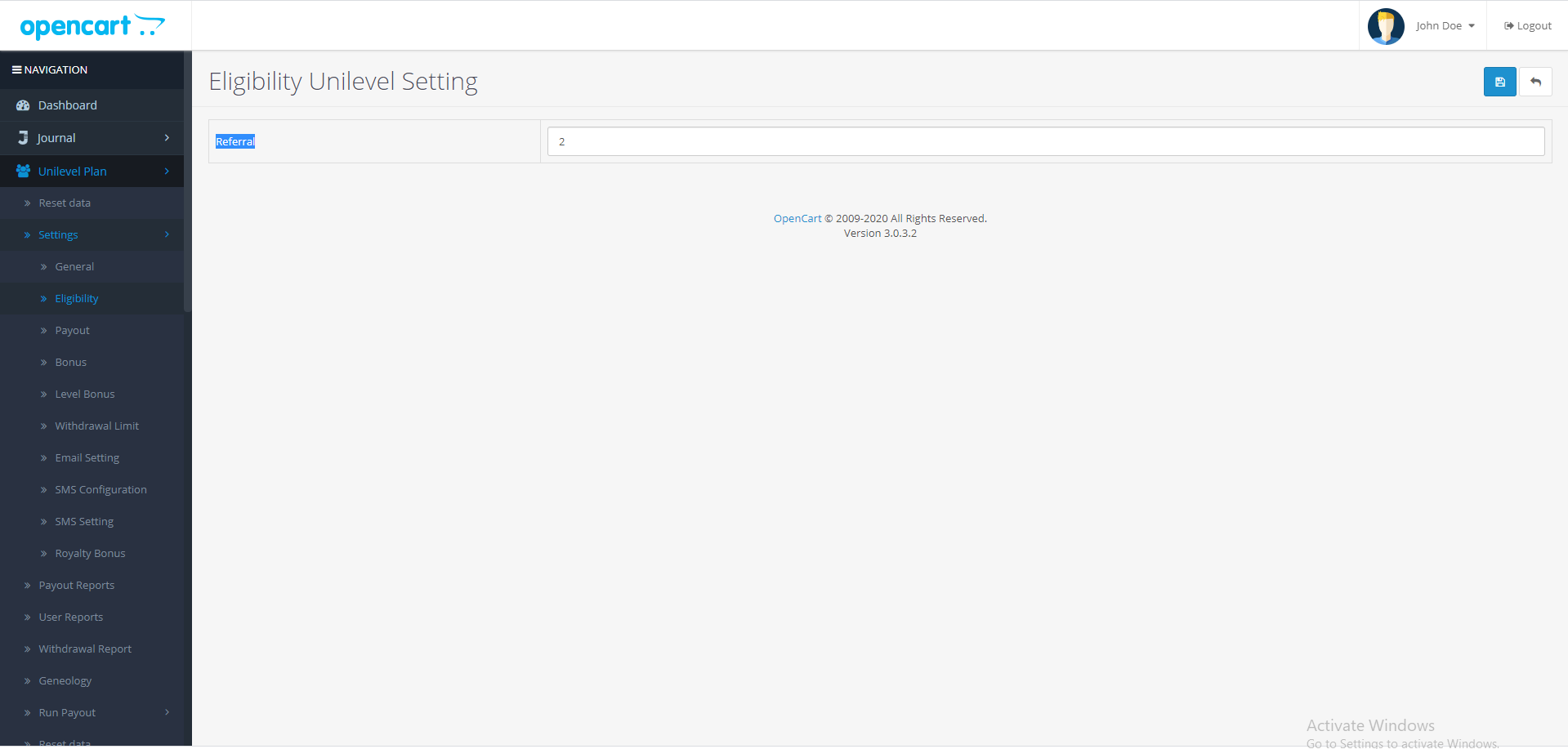 |'Opencart'| |'letscms'| |'opencart unilevel mlm plan'| |'eligibility'| |'Dashboard'| |'unilevel mlm plan'| |'mlm'| |'mlm Plan'|  |'setting'| |'new users'| |'unilevel'| |'unilevel mlm extension'| |'costomer list'| |'new users'| |'Installer'| |'mlmtrees.com'| |'mlm plan'| |'extension'| |'Opencart mlm plan'|