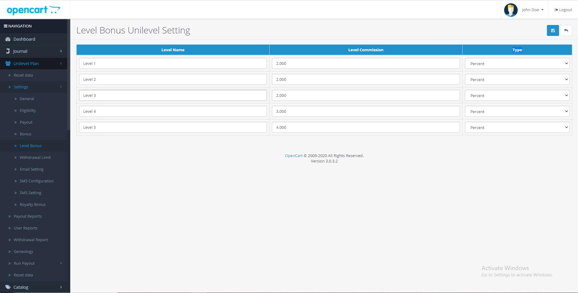 |'Opencart'| |'letscms'| |'opencart unilevel mlm plan'| |'bonus'| |'Dashboard'| |'unilevel mlm plan'| |'mlm'| |'mlm Plan'|  |'setting'| |'new users'| |'unilevel'| |'unilevel mlm extension'| |'costomer list'| |'new users'| |'Installer'| |'mlmtrees.com'| |'mlm plan'| |'extension'| |'Opencart mlm plan'|