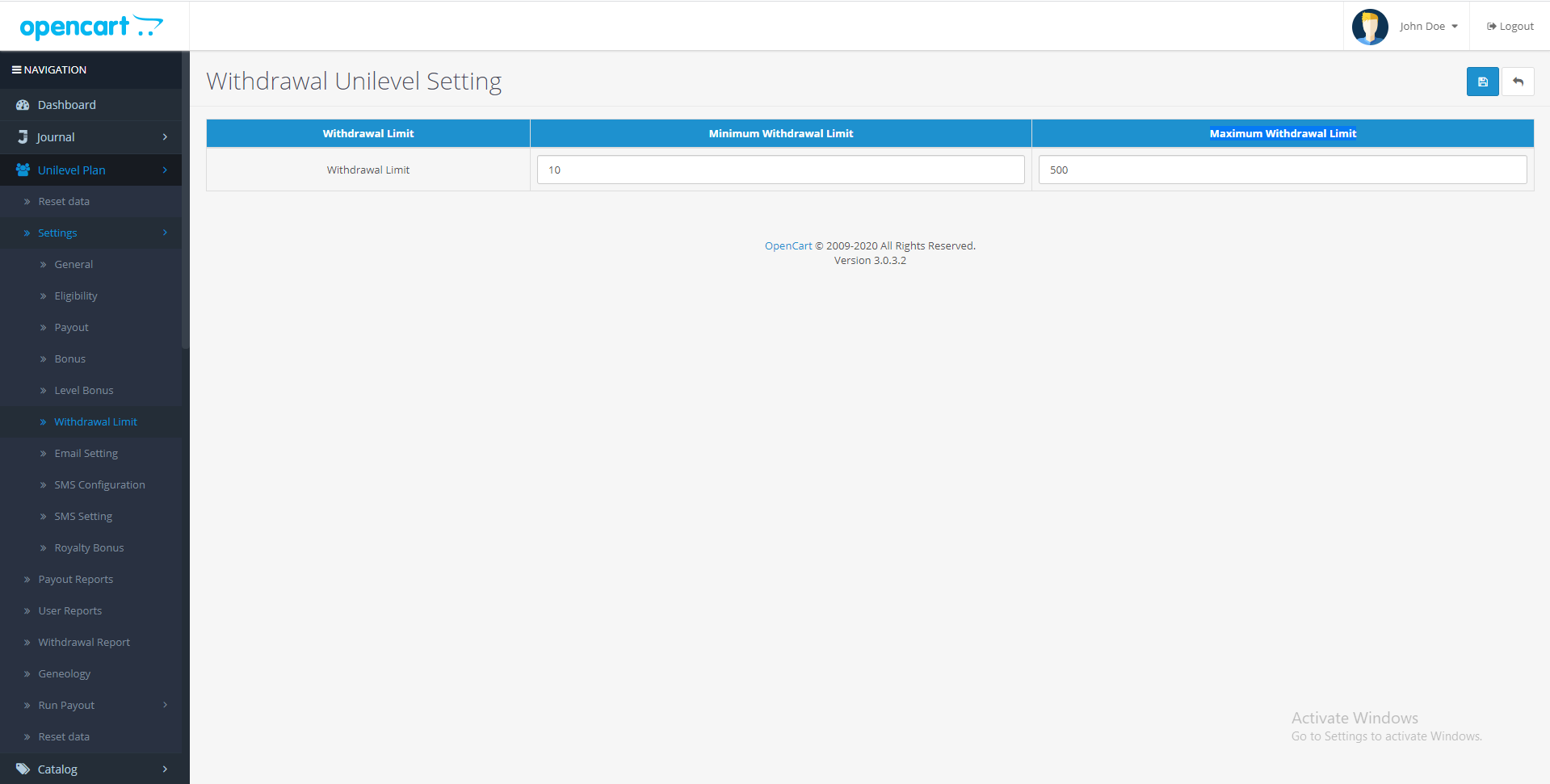 |'Opencart'| |'letscms'| |'opencart unilevel mlm plan'| |'withdrawal'| |'Dashboard'| |'unilevel mlm plan'| |'mlm'| |'mlm Plan'|  |'setting'| |'new users'| |'unilevel'| |'unilevel mlm extension'| |'costomer list'| |'new users'| |'Installer'| |'mlmtrees.com'| |'mlm plan'| |'extension'| |'Opencart mlm plan'|