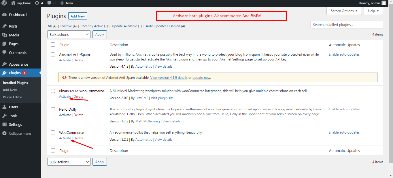 |'Wordpress'| |'letscms'| |'Binary mlm WooCommerce plan'| |'create first user'| |'root user'| |'mlmtrees.com'| |'mlm plan'| |'bmw'| |'wordpress mlm plan'|