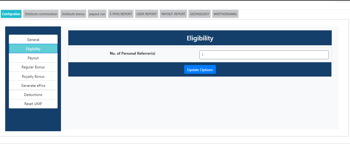 |'Wordpress'| |'letscms'| |'unilevel mlm plan'| |'eligibility settings'| |'mlm settings'| |'settings'| |'mlmtrees.com'| |'mlm plan'| |'wordpress mlm plan'|